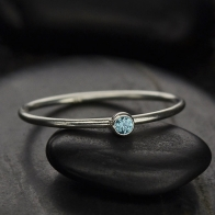 Sterling Silver Ring - Birthstone Ring - December