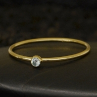 Gold Filled Ring - Birthstone Ring - March