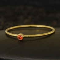 Gold Filled Ring - Birthstone Ring - July