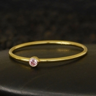 Gold Filled Ring - Birthstone Ring - October
