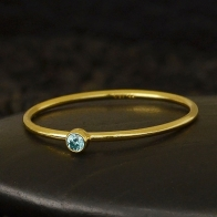 Gold Filled Ring - Birthstone Ring - December