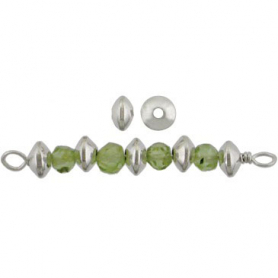S2692   -SV-SPCR Sterling Silver Spacer Beads - Simple Spacer
