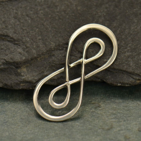 S2783   -SV-LINK Jewelry Supplies - Double Layer Infinity Charm Silver Links