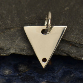 S2950   -SV-CHRM Sterling Silver Triangle Pendant with Two Holes