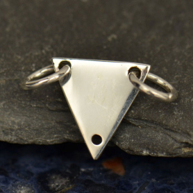 S2951   -SV-FEST Jewelry Parts - Triangle Festoon with 3 Holes Silver Pendant
