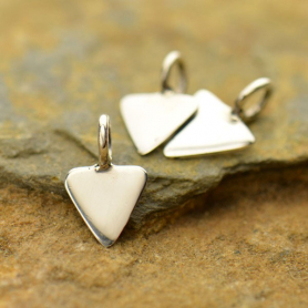 S2955   -SV-CHRM Sterling Silver Tiny Triangle Dangle Charm