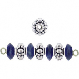 S2D     -SV-SPCR Sterling Silver Spacer Beads with Granulations