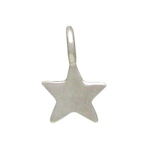 Sterling Silver Tiny Star Dangle Charm- 8mm