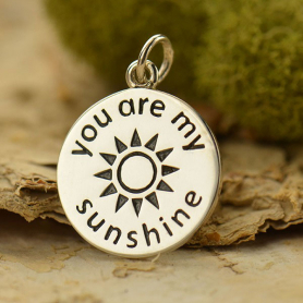 S6002   -SV-CHRM Sterling Silver Word Charm - You are my Sunshine Charm