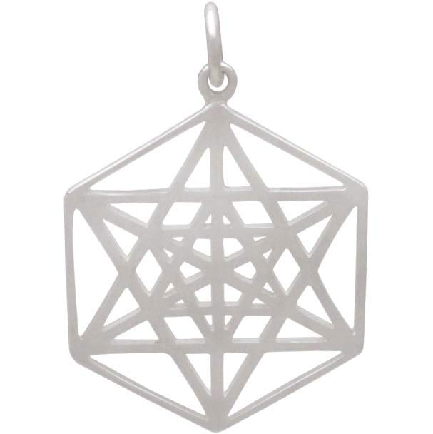 Sterling Silver Sacred Geometry Star Charm