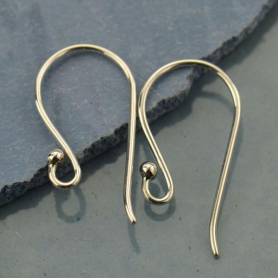 T2176   -SV-EARR Sterling Silver Ear Hook - Large Simple with Ball