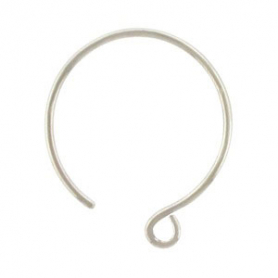 T2224   -SV-EARR Sterling Silver Ear Wire - Large Circle