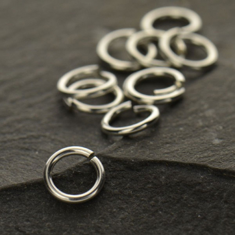 UC317   -SV-JPRG Sterling Silver Jump Rings - 6mm Open