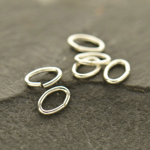UC348   -SV-JPRG Sterling Silver Jump Rings -  5mm Oval