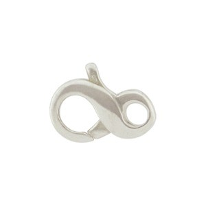 Sterling Silver Infinity Lobster Clasp -13mm