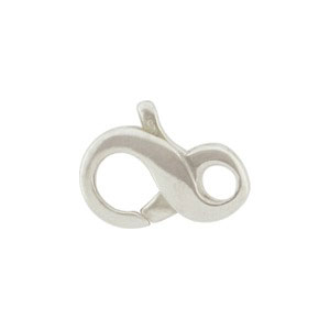 UC3     -SV-CLSP Sterling Silver Infinity Lobster Clasp -13mm