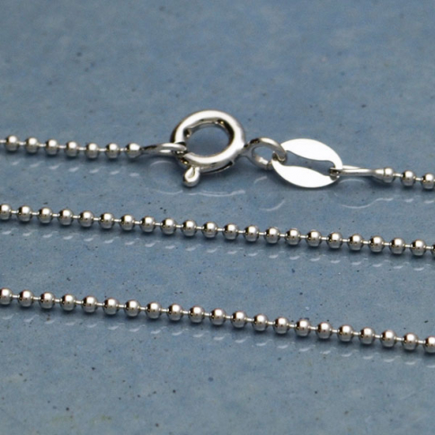 UCH189  -SV-CHAN Sterling Silver 18 Inch Chain -Small Ball Chain