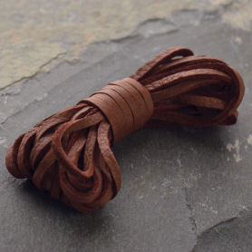 UL702   -LT-03MM Leather Cord - Chestnut 3mm Deerskin Laces