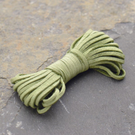 UL731   -LT-02MM Leather Cord - Sage 2mm Deerskin Laces DISCONTINUED