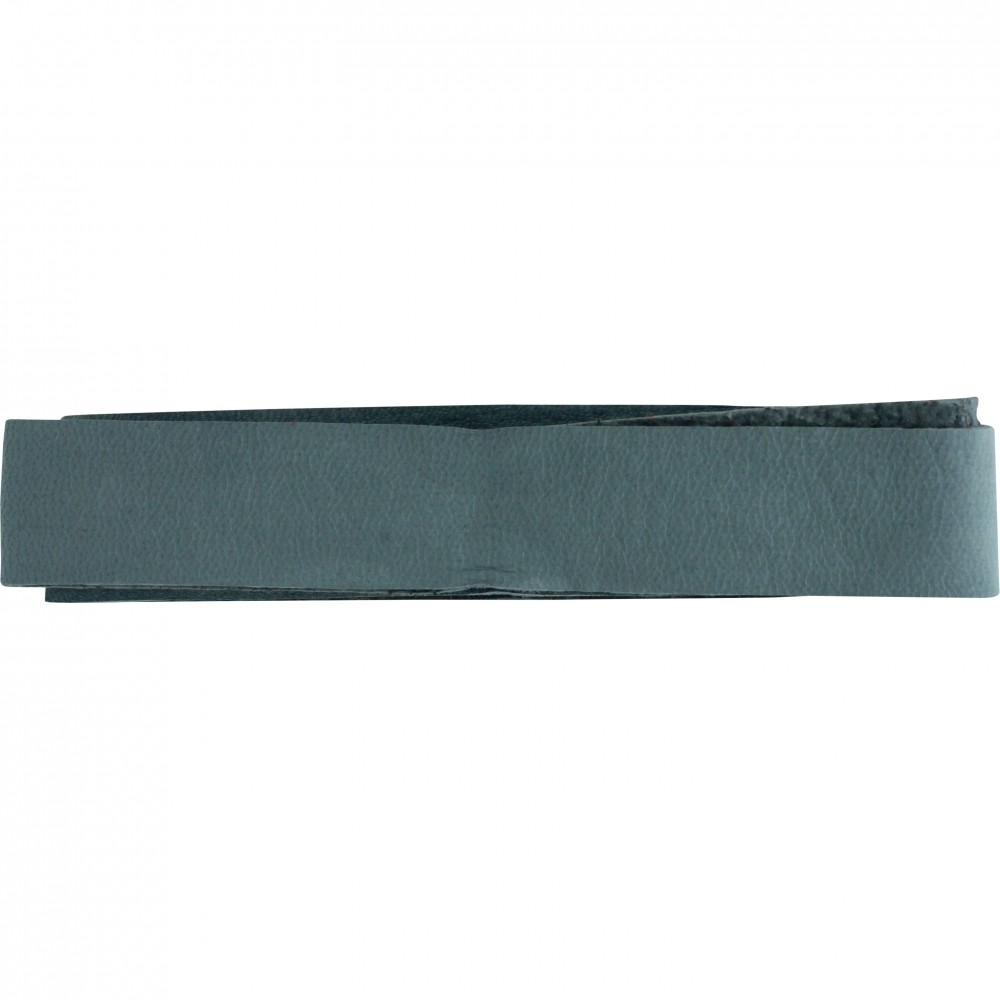 Leather Cord - Stone Blue Wide 2cm Deerhide DISCONTINUED
