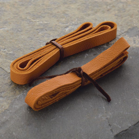 UL803   -LT-10MM Leather Cord - Caramel 1cm Deerlace DISCONTINUED