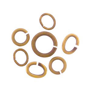 UVS433  -BM-ABZ-JPRG Assorted Brass Jump Rings - Open
