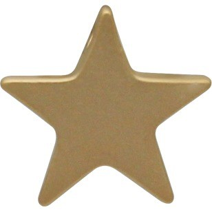 Large Star Bead - 24K Gold Plated Bronze DISCONTINUED