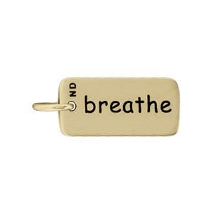 Breathe Word Jewelry Charm - Bronze