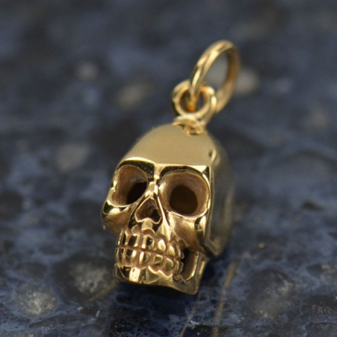VNA578  -BZ-CHRM Medium Skull Jewelry Charm - Bronze