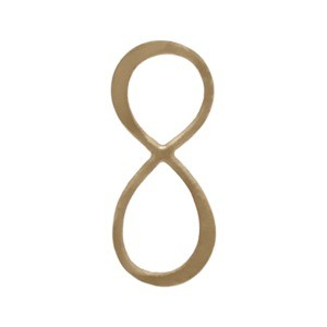Jewelry Supplies - Med Infintiy Charm Link in Bronze