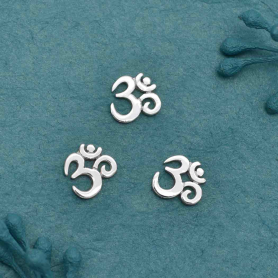 XCA1325 -SV-EMBL Sterling Silver Ohm Charm Embellishment