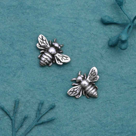 XCA699  -SV-EMBL Sterling Silver Honey Bee Charm Embellishment