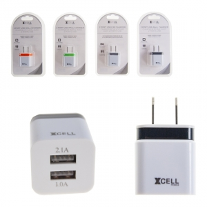 20447TA XCELL MOBILE - 2 PORT USB WALL CHARGER