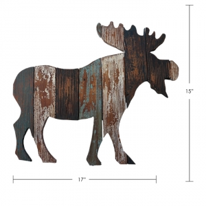 31213PKA TIMBER - WALL PLAQUE, MOOSE