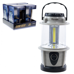 31497FL OLYMPIA - COB CAMPING DIMMABLE LANTERN 4PCS DISP