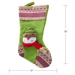 "40109TYX CANADA MOOSE - 20""SNOWMAN STOCKING"