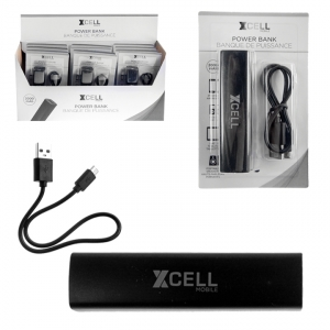 50235XCM XCELL MOBILE - POWER BANK, 2000MAH, 12PCS DISPLAY