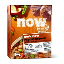 13720 NOW DOG FRESH Grain Free Pork Stew Tetra Pack 12/354g