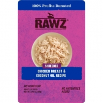 14394 RAWZ Cat Shredded Chicken Breast & Coconut Oil Pouch 8/2.46