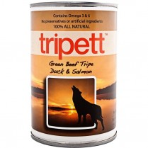 21810 TRIPETT Dog Green Beef Tripe w/Duck & Salmon 12 /369g