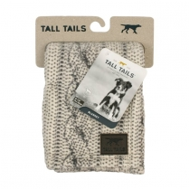 31157 TALL TAILS 30X40 Fleece Blanket, Cable Knit Print