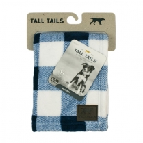 31159 TALL TAILS 30X40 Fleece Blanket, Navy Plaid