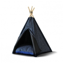 34587 WOOF Concept  Premium Pet Teepee Navy Medium