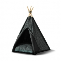 34588 WOOF Concept  Premium Pet Teepee Green Medium (MDISC)