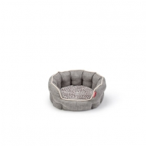 "35077 BUDZ DOG ROUND DELUXE CUDDLER 22.5"" X 20.5"" GRAY"