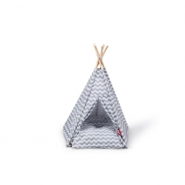 "35216 BUDZ Cat Tent Grey/White 26"" x 25"""