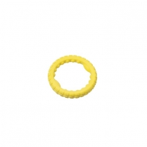 35241 BUDZ Dog Toy Rubber Ring Foam Yellow 7.5''