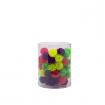 35244 BUDZ Cat Toy Coloured Hedgehog Balls Jar (60 un)