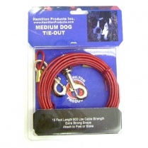 35804 Hamilton 15' MED Wt Tie-Out Cable - RED