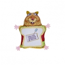 37100 Fuzzu Fluffys Snack Bar Grilled Hamster and Cheese Cat Toy